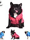 Hundar Kappor Huvtröjor Vest Röd Blå Grå Hundkläder Vinter Vår/Höst Enfärgat Ledigt/vardag Håller värmen