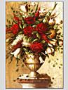 Peint a la main A fleurs/BotaniqueModern / Style europeen Un Panneau Toile Peinture a l\'huile Hang-peint For Decoration d\'interieur