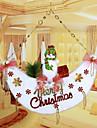 """53 * 51cm / 21 * 20 """"Noel portes bonhomme de neige de lune tentures arbre de Noel fenetre d\'accueil de l\'hotel de decoration"""