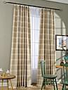 Deux Panneaux Le traitement de fenetre Rustique , Rayure Chambre a coucher Melange Lin/Coton Materiel Rideaux TenturesDecoration