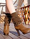 Chaussures Femme - Habille / Decontracte - Noir / Marron - Talon Aiguille - Confort - Bottes - Similicuir