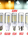 E14 / G9 / GU10 / E26/E27 / B22 18 W 102x2835SMD 1650 LM Warm White / Cool White LED Corn Bulbs AC 220-240 V