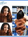 2pieces peruanska jungfru hår förkroppsligar vinkar Omber hårförlängningar väver två ton hår obearbetat peruanska människohår 7a