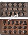 Arbre de noel bonhomme de neige neige silicone chocolat pudding sucre gateau de glace couleur du moule aleatoire