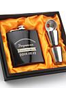 신부 / 신랑 / 신부들러리 / 신랑의 들러리 선물-1 조각 / 세트 플라스크 모던 축하 파티 스테인레스 스틸 개인화 플라스크 블랙 선물 상자