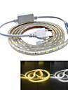 Jiawen etanche 39W 2400lm 120x5050 bande LED SMD de lumiere flexible (3m de longueur / 220v)