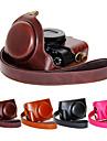 dengpin® PU läder kameraväska väska täck med axelrem för Sony DCS-rX100 m4 rX100 IV (blandade färger)