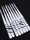 1uppsättning zebra spik ristade kristall penna nagel konst verktyg (8st / ställ)