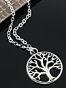 Silver Plated Lift Tree Pendant Tiny Neck Necklace