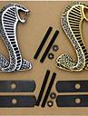3d metall krom klistermärke bil galler svarvning logotyp kobra emblem Shelby Mustang carros Bilstyling