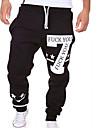 A bărbaților Pantaloni Drăguți Bumbac Pur Casual Negru / Alb / Gri