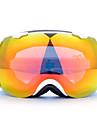 BASTO Windproof White Frame Yellow Sensor Skiing Snow Goggles