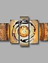 Peint a la main AbstraitModerne Cinq Panneaux Toile Peinture a l\'huile Hang-peint For Decoration d\'interieur
