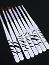 8pcs art zebre ongles manucure qui parsement la peinture des outils de dessin a la plume de brosse a ongles