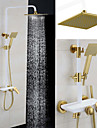Shower Faucet Antique Rain Shower/Handshower Included Brass Painting