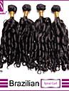 4st / lot brasilianska jungfru hår spiral curl obearbetade brasilianska jungfru hår brasilianska hårknippena