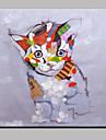 Peint a la main Abstrait / AnimalModern Un Panneau Toile Peinture a l\'huile Hang-peint For Decoration d\'interieur