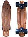 eloxerad plast skateboard (22 tum) cruiser styrelse med ABEC-9 lager guld