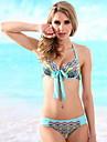 Femei Bikini Femei Cu Susținere Floral/Animal/Mulată Push-up/Sutiene cu Întăritură/Sutiene Fără Burete Polyester/Spandex