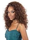la mode africaine noire et marron deux longs boucles perruques aviable couleur de cheveux synthetiques.