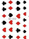 Punk - Finger - 3D Nagelstickers / Nagelsmycken - av PVC - 1pcs - styck 62mm*52mm - cm