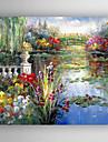 HANDMÅLAD Abstrakta landskapModerna / Medelhavet En panel Kanvas Hang målad oljemålning For Hem-dekoration