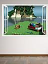 Noel / Bande dessinee / Romance / Mode / Vacances / Paysage / Forme / Personnes / 3D Stickers muraux Stickers muraux 3D , PVC70cm x 50cm