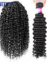 """1 st / lot 12 """"-30"""" 7a brasilianska jungfru hår vinkar djupt mänskligt hårwefts 100% obearbetat brasilianskt remy hår väver"""