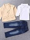 Fecioresc Fecioresc Set Îmbrăcăminte Toate Sezoanele Solid Amestec Bumbac
