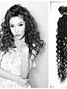 """1st / lot 20 """"0,5 g-1 g / s brasilianska jungfru hår lockigt pre bundna hår trasselfria extensiones de Cabello överlägsen"""