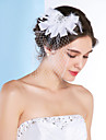 Women\'s Tulle Headpiece-Wedding / Special Occasion Fascinators Clear Irregular