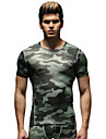Course / Running Hauts/Tops Homme Respirable Course/Running Sportif Vetements de sport Vert S M L XL