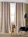 Två paneler Rustik / Modern / Nyklassisistisk Blommig/Botanisk Multifärgad Bedroom Poly/Bomull blend Panelgardiner draperier