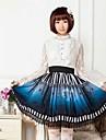 blå halloween lolita kjol vackra cosplay