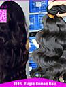Human Hår vävar Mongoliskt hår Kroppsvågor 6 månader 3 delar hår väver