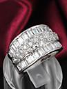 Inele Nuntă / Petrecere / Zilnic / Casual Bijuterii Plastic / Zirconiu / Argilă Dame Verighete 1 buc,6 / 7 / 8 Argint