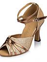 Chaussures de danse(Violet Or) -Personnalisables-Talon Aiguille-Paillette-Latine