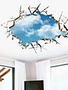 Forme / 3D Stickers muraux Stickers muraux 3D Stickers muraux decoratifs,PVC Materiel Amovible Decoration d\'interieur Wall Decal