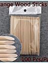100st nail art designs apelsin trä stick hinnor pusher remover manikyr vård