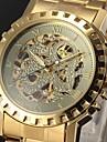 WINNER® Men's Watch Auto-Mechanical Skeleton Hollow Engraving Golden Watch Cool Watch Unique Watch