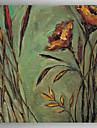 HANDMÅLAD Blommig/BotaniskModerna Fyra paneler Kanvas Hang målad oljemålning For Hem-dekoration