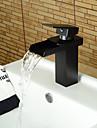 Hål med bredare avstånd Singel Handtag Ett hål in Oljeaktig Brons Badrum Sink kran
