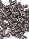 5mm silikon fodrade microringar länkar crimp pärlor i / u / lägenheten spets hårförlängningar 500pcs brun