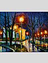 HANDMÅLAD Abstrakta landskapModerna / Europeisk Stil En panel Kanvas Hang målad oljemålning For Hem-dekoration