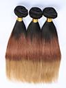 3pcs / lot ombre extensions de cheveux bresiliens T1B / 4/27 ombre faisceaux vierges d\'armure de cheveux humains Ombre trame de cheveux