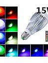 morsen® 15w e27 rgb LED-lampa ljus ac85-265v fjärrkontroll lampa