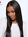 vackra 20inch lång siden rak naturliga färg brasilianskt jungfru håret fullt spets peruk