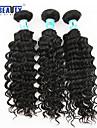"""3 st / lot 8 """"-26"""" 5a peruanska jungfru hår djup våg hårförlängningar 100% obearbetat remy människohår väver"""