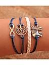 læder charme braceletsunisex flerlagede læder armbånd elefant& liv træ inspirerende armbånd