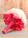 "Wedding Flowers Round Roses Bouquets Wedding Blue / Fuchsia / Red / Green / White / Purple / Ivory Foam 7.09""(Approx.18cm)"